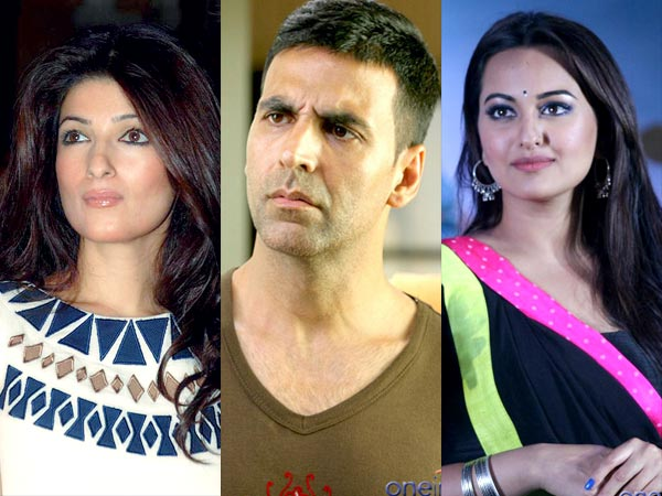 Akshay Kumar Warned By Wife For Bonding With Sonakshi Sinha?