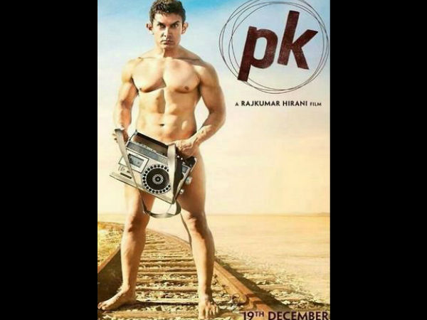 Aamir Khan nude in PK first poster