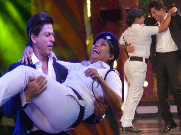 Shahrukh Khan's dance with Kolkata police officer draws criticism