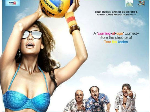 The Shaukeens poster: Three oldies drool over the sultry Lisa Haydon