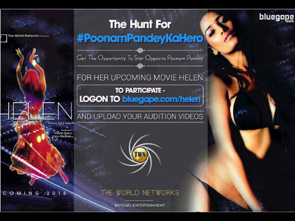 Poonam Pandey is hunting for her hero on twitter