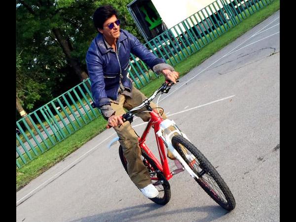 Top Tweets- शाहरुख खान की साइकिल पर तस्वीर