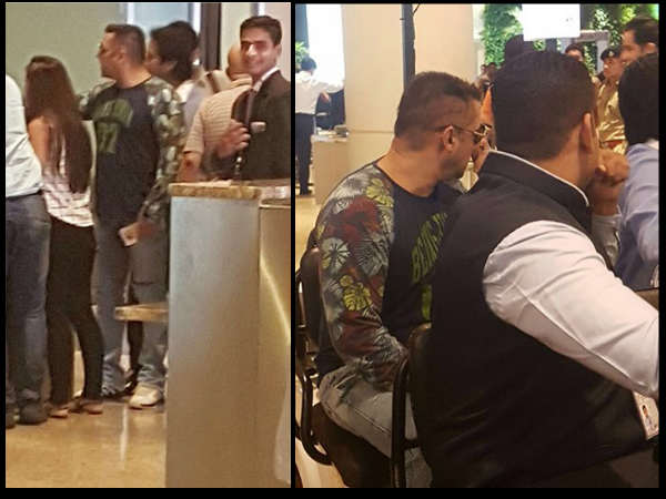 Salman Khan showdown at Mumabi airport
