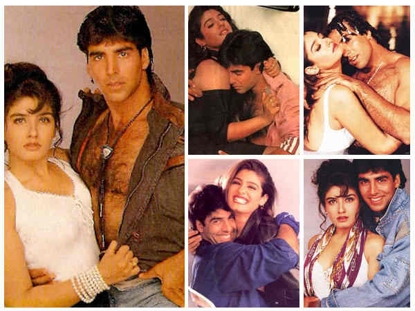 Akshay and Raveena Tandon