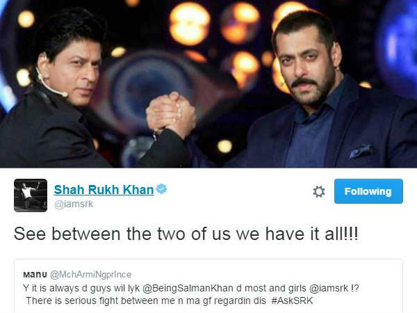 Shahrukh Khan Ask SRK