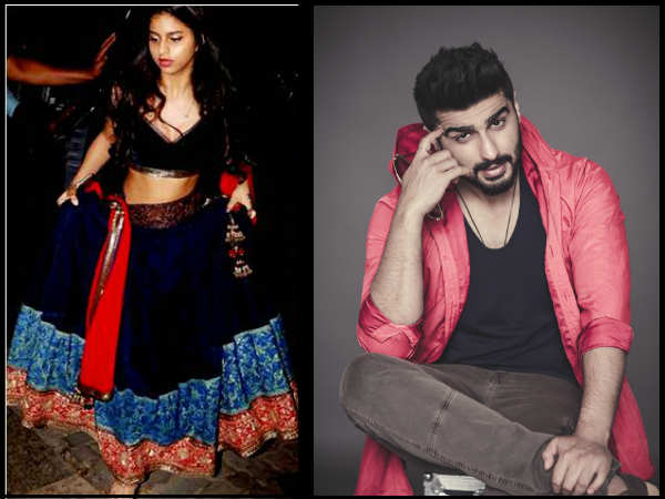 suhana-khan-arjun-kapoor-spotted-on-ishq-kameena-sets
