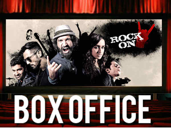 Rock On 2 opening box office reports