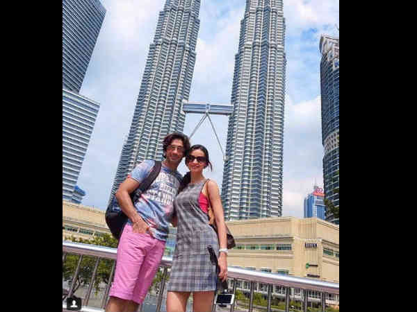 sanaya irani and mohit sehgal on a romantic holiday