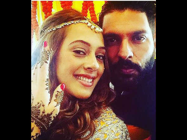Yuvraaj Singh Hazel Keech wedding ceremony pics