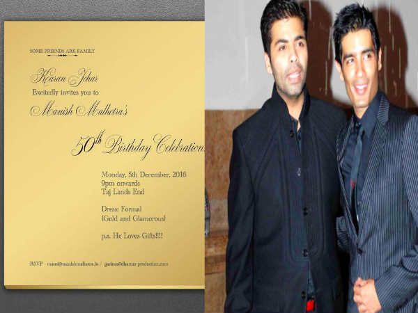 karan-johar-s-gold-invite-for manish-malhotra-s-50th-birthday bash