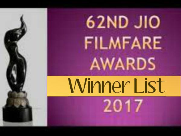 #WinnerList: फिल्मफेयर अवार्ड 2017 - जानिए बेस्ट एक्टर, एक्ट्रेस,फिल्म...