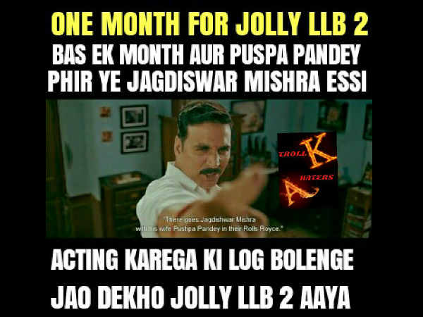 one-month-jolly-llb-2-trends-on-twitter