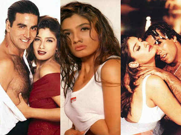 Raveena Tandonn hot and sexy pics of old days