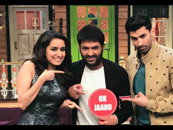 shraddha kapoor and aditya roy kapur prmotes ok jaanu on the kapil sharma show