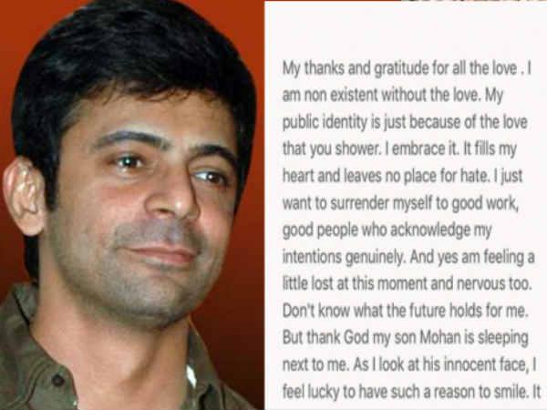 इस इमोशनल पोस्ट में सुनील ने खोले कई राज, बोले- 'खोया-खोया हूं, नर्वस भी हूं'