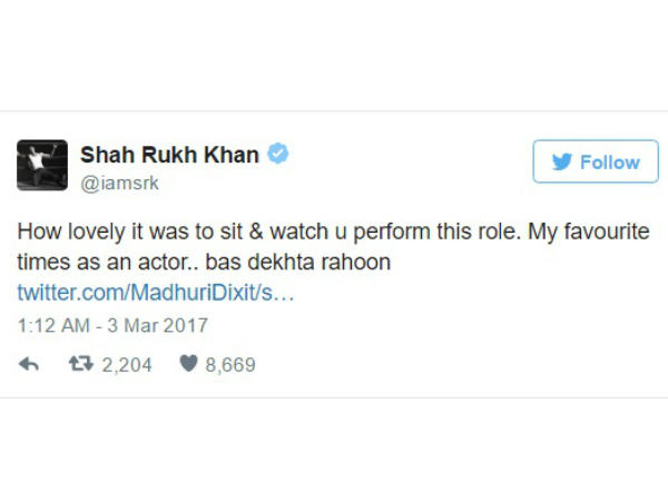 shahrukh-khan-twitter-conversation-with-madhuri-dixit-will-make-your-day
