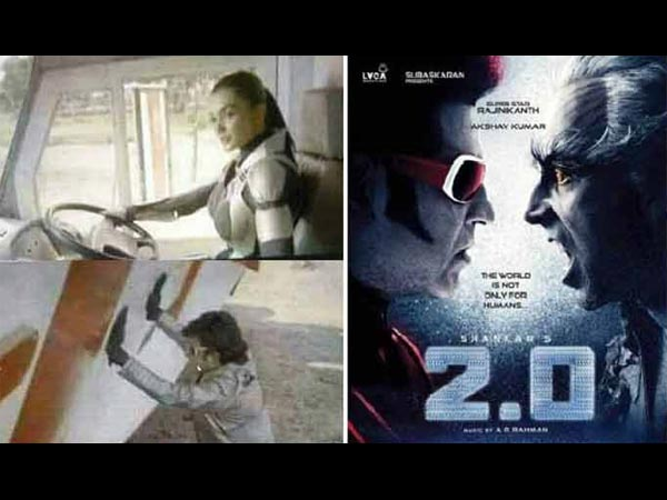Amy Jackson Robotic Look Of 2.0 Leaked See Pic