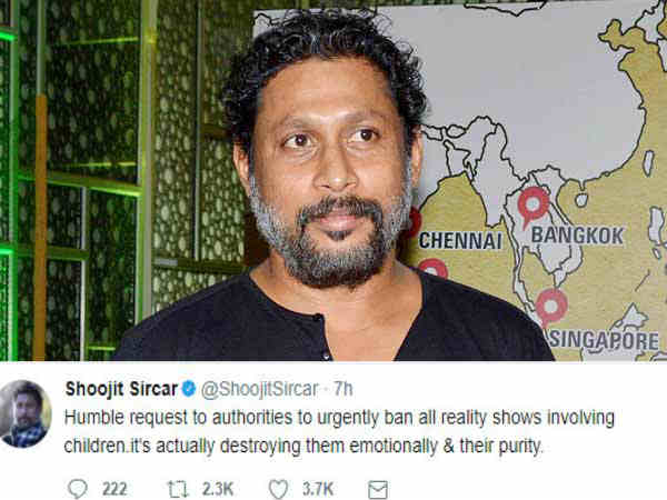 shoojit-sircar-request-authorities-to-ban-reality-shows-involving-children
