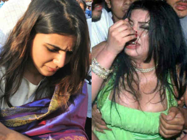 बाहुबली की देवसेना के साथ छेड़छाड़..सेल्फी के बहाने लगाया इधर-उधर हाथ..देखें तस्वीरें