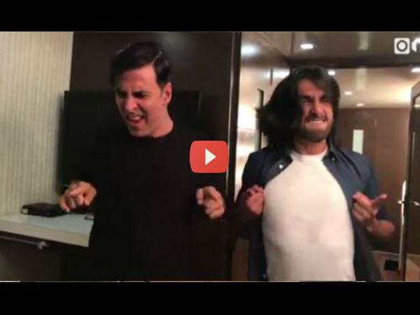 अक्षय-रणवीर का CRAZY सेलिब्रेशन..आप भी हंसते रह जाएंगे..VIDEO