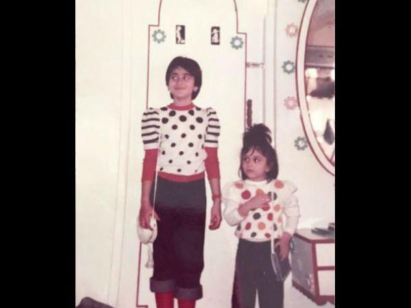 छोटी बहन करीना को करिश्मा ने किया विश..शेयर की बचपन की बेहद प्यारी तस्वीर