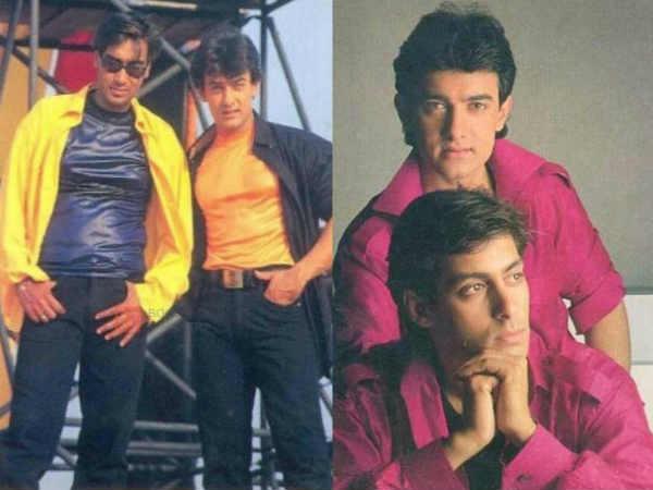 90s की तस्वीरें..आज के आमिर, सलमान और अजय देवगन को भूल जाएंगे आप