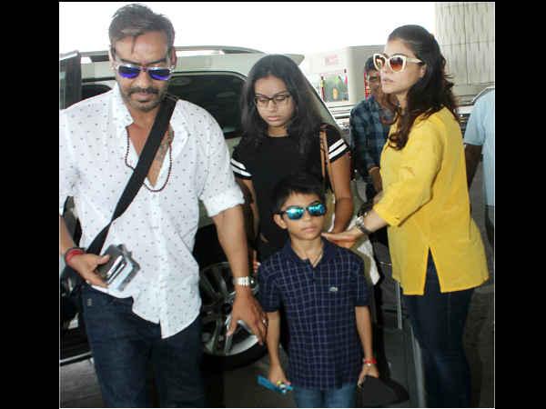 गोवा वेकेशन पर निकले अजय देवगन..काजोल और बच्चों के साथ यूं आए नजर