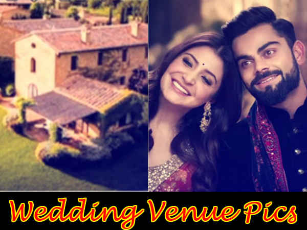 #ViralPics: यहां सज रहा है अनुष्का - विराट की शादी का मंडप