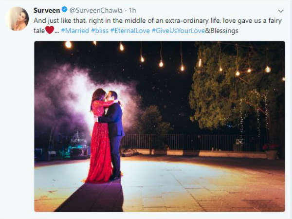 actress-surveen-chawla-gets-hitched-shares-pic-on-social-media