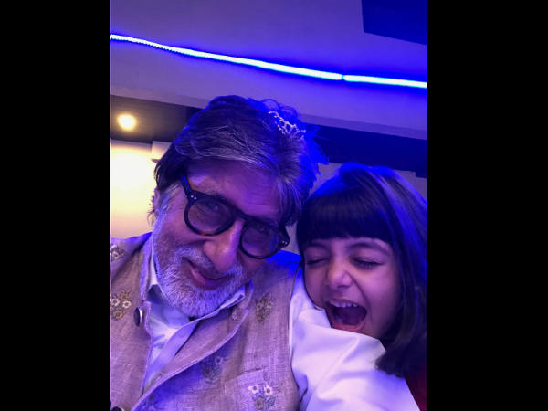 amitabh-bachchan-shares-adorable-selfie-with-grand-daughter-aaradhya-bachchan