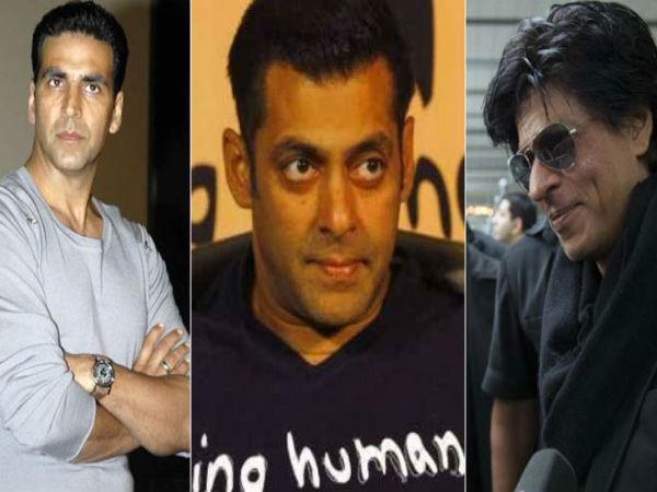 Salman Khan,Akshay Kumar,Shahrukh Khan