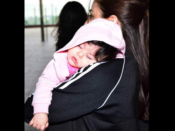 तैमूर जितनी ही प्यारी हैं उनकी बहन इनाया..एयरपोर्ट पर आईं नजर..CUTE