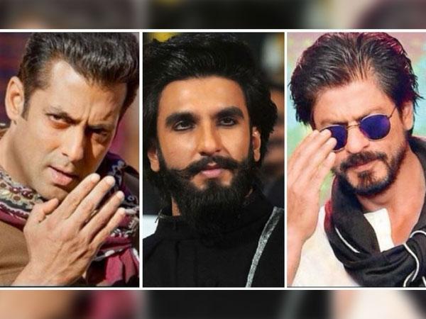 Image result for शाहरुख खान, सलमान खान और रणवीर सिंह