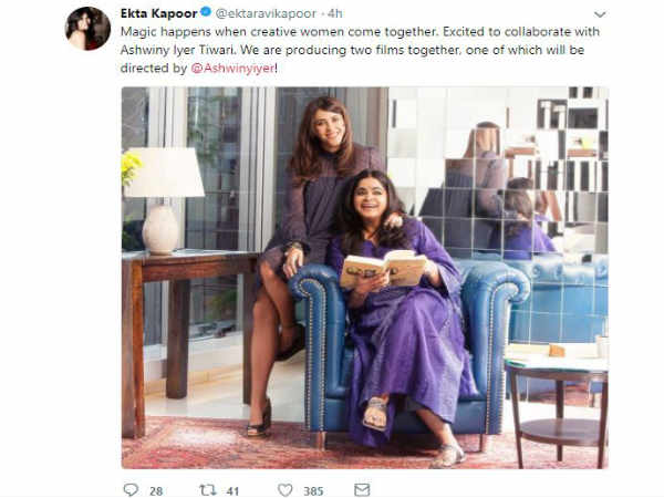 ekta-kapoor-ashwiny-iyer-tiwari-join-hands-for-two-movies