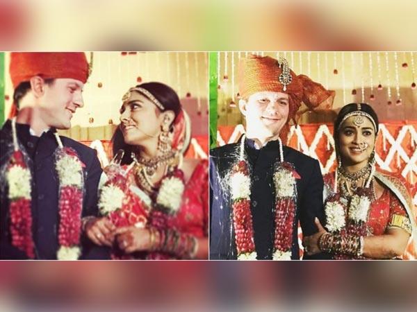 श्रिया सरन की शादी की फोटो हुई वायरल, रशियन ब्वायफ्रेंड से रचाई थी शादी