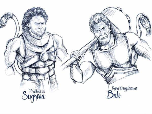 सुग्रीव - बाली - प्रभास, राणा दग्गुबाती