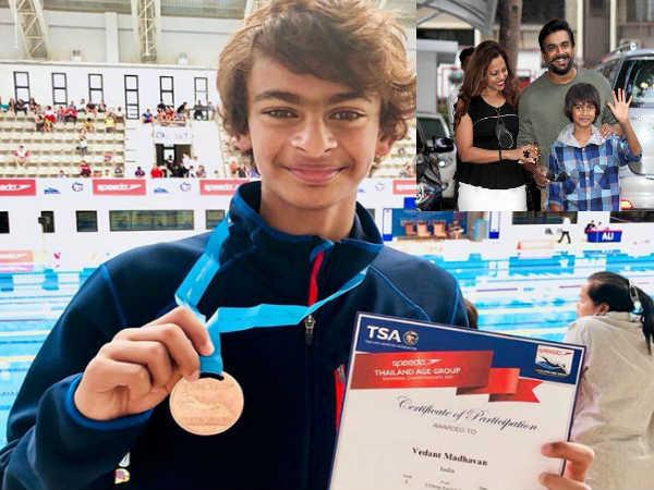 आर माधवन के 12 साल के बेटे ने भारत के लिए थाईलैंड अंतर्राष्ट्रीय तैराकी में जीता ब्रॉंज मेडल