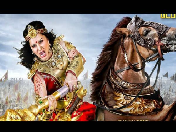 वीरमादेवी: सनी लियोन कर रही है घोड़े पर खतरनाक स्टंट, शूटिंग सेट से Video हुआ वायरल