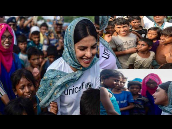 रोहिंग्या के बेघर मासूमों से मिलने बांग्लादेश पहुंची अभिनेत्री प्रियंका चोपड़ा, तस्वीरें देखें