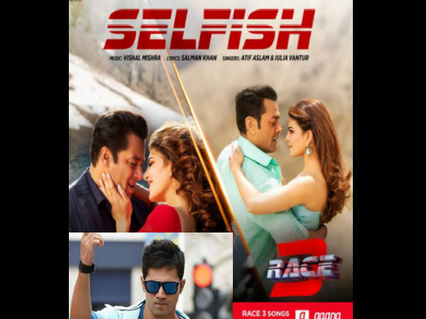 रेस 3: वरुण धवन ने अपने अंदाज में किया Selfish song का प्रमोशन, देखिए वीडियो