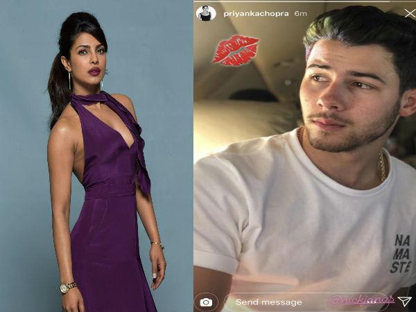 रोके के बाद प्रियंका चोपड़ा ने मंगेतर निक जोनस को खुलेआम किया Kiss, फोटो हो गई वायरल