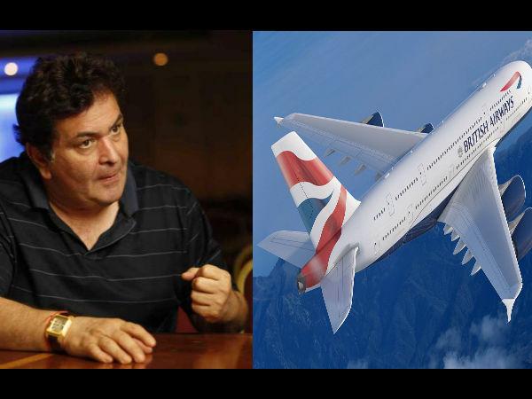 नस्लभेद: ऋषि कपूर ने खोली ब्रिटिश एयरलाइंस की पोल, कभी सफर ना करने की दी नसीहत