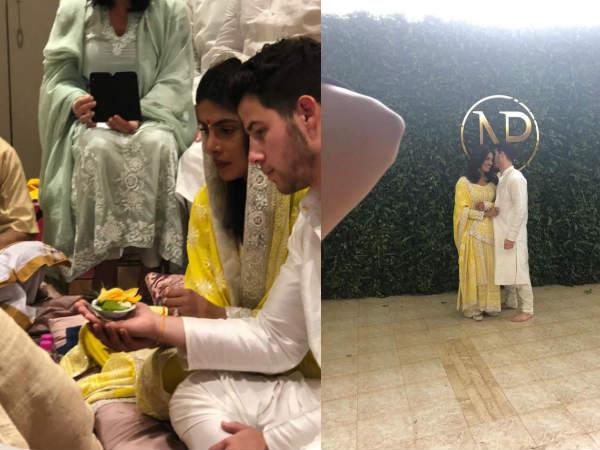 सामने आई प्रियंका चोपड़ा और निक जोनस की पहली तस्वीर, रोका सेरेमनी का लुक वायरल