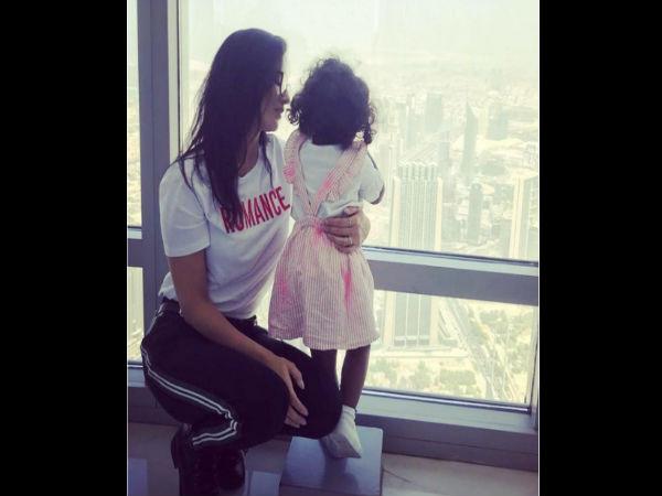सनी लियोन ने पोस्ट की बेटी के साथ अब तक की सबसे प्यारी तस्वीर, दुबई मे है पूरा परिवार
