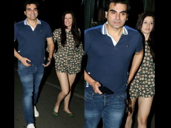 अरबाज खान देर रात गर्लफ्रेंड के साथ हुए स्पॉट, कैमरा देखकर नहीं रोक पाए मुस्कान