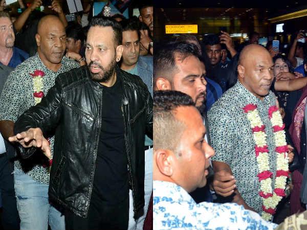 पहली बार भारत आए मुक्केबाज माइक टायसन भीड़ में घिरे, सलमान के बॉडीगार्ड शेरा ने निकाला
