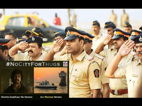 मुंबई पुलिस ने ठग्स ऑफ हिंदोस्तान स्टाइल में दी अपराधियों को चेतावनी, फोटो Viral