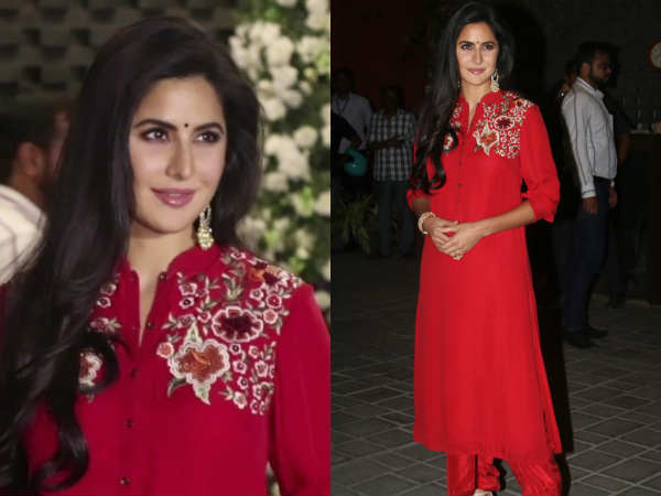 katrina-kaif-look-mesmerizing-red-dress-during-ganpati-puja