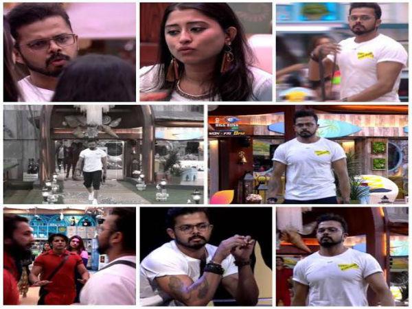 BIGG BOSS 12 क्रिकेटर श्रीसंत ने शो छोड़ने की दी धमकी,सीधे घर से बाहर VIDEO