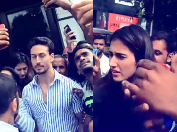 tiger-shroff-disha-patani-mobbed-actor-leaves-his-lady-behind-stuck-in-crowd
